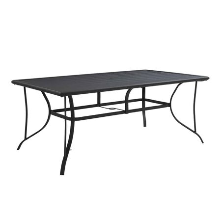 Living Accents Kensington Rectangular Black Steel Dining Table