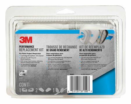 3M P95 Paint Project Respirator Supply Kit 6000 & 7000 Gray 8 pc.