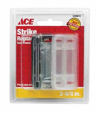 Ace Zinc-Plated Surface mount Screen/Storm Door Strike Silver 1 pk