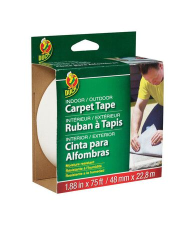 Duck 1.88 in. W x 75 ft. L Carpet Tape White
