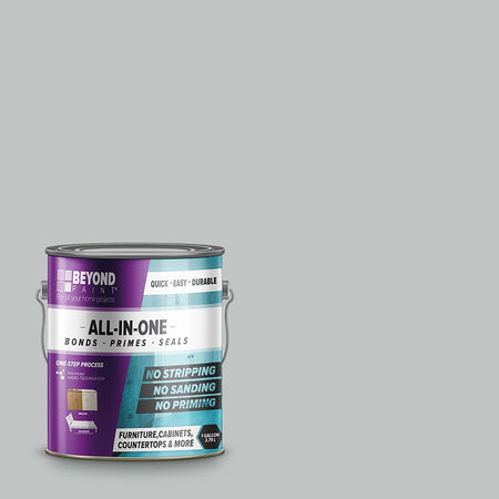 BEYOND PAINT Matte Soft Gray Water-Based Acrylic All-In-One Paint Indoor and Outdoor 1 gal.