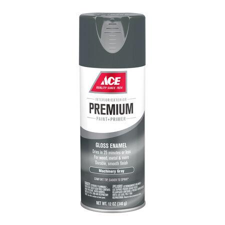 Ace Premium Gloss Machinery Gray Enamel Spray Paint 12 oz.