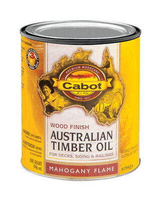 Cabot Wood Finish Transparent Oil-Modified Australian Timber Oil Mahogany Flame 1 qt.
