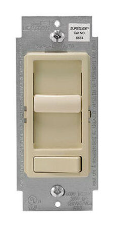 Leviton SureSlide 600 watts Three-Way Dimmer Switch Ivory