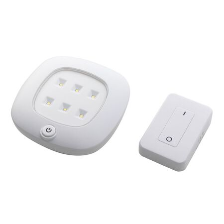 Fulcrum White Ceiling Fixture with Remote 2.5 in. D x 10.5 in. H x 8.75 in. W LED AA