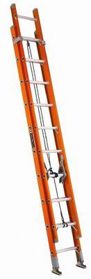 16 ft Louisville FE3216 Fiberglass Extension Ladder, Type IA, 300 lb Load Capacity