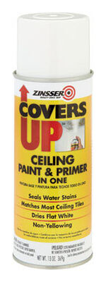 Zinsser Covers Up Oil Base Interior Aerosol Primer/Sealer 13 oz. White Flat