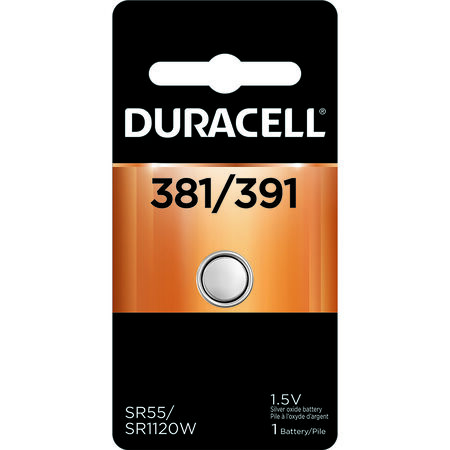 Duracell 381/391 Silver Oxide Watch/Electronic Battery 1.5 volts 1 pk