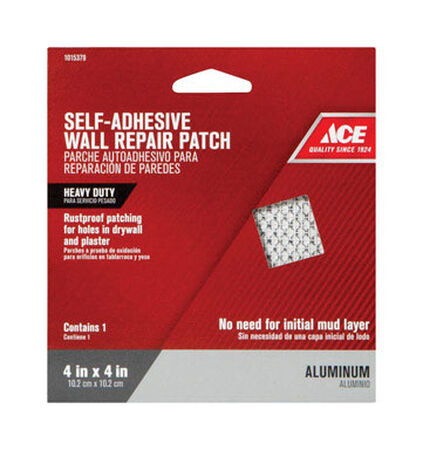 Ace Wall Repair Patch Aluminum Reinforced Self Adhesive 4 in. W x 4 ft. L