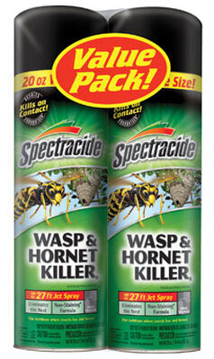 Spectracide Insect Killer For Hornets Wasps and Hornets 2-20 oz