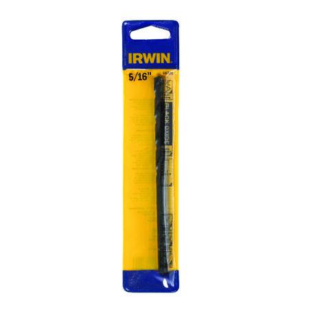 Irwin Aircraft Extension 5/16 in. Dia. x 6 in. L Black Oxide Split Point Drill Bit