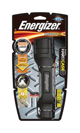 Energizer ProjectPlus 400 lumens Flashlight LED AA Black