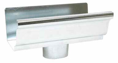 Amerimax 5 L x 3 in. W x 2 in. H x 5 in. H Galvanized Steel K End with Drop Metallic