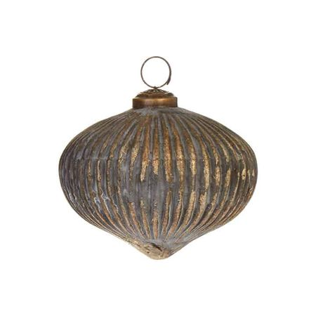 "4"" Grooved Ball Ornament"