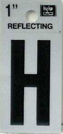 Hy-Ko Self-Adhesive Black Reflective Vinyl Letter H 1 in.