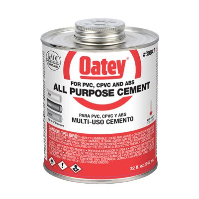 Oatey Clear PVC/CPVC All-Purpose Cement 32 oz.