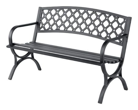 Living Accents Park Bench Steel 33.5 in. H x 23.4 in. W