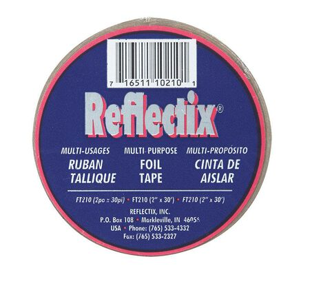 Reflectix Reflective Foil Tape Insulation 2 in. W x 30 ft. L Roll 5 sq. ft. Energy Star Complian