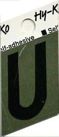 Hy-Ko Self-Adhesive Black 1-1/2 in. Aluminum Letter U