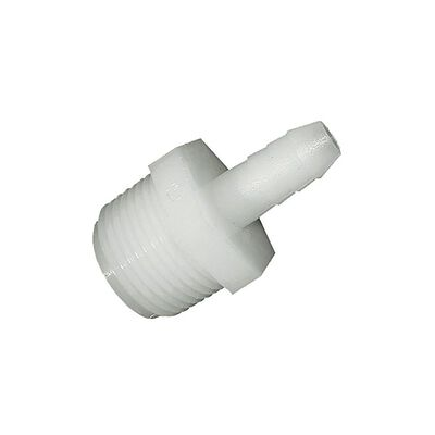 Green Leaf Nylon Adapter 3/8 in. Dia. x 1/2 in. Dia. White 5 pk