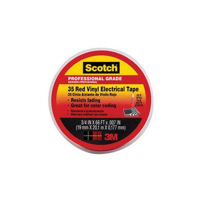 Scotch 3/4 in. W x 66 ft. L Vinyl Electrical Tape Red