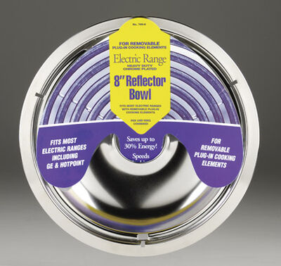 Stanco Chrome-Plated Steel Range Reflector Bowl 8 in.