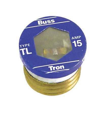 Bussmann Time Delay Plug Fuse 15 amps 125 volts 3 pk For Small Motor And Inductive Load Circuits