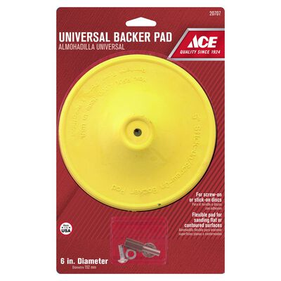 Ace 6 in. Dia. Plastic Backing Pad