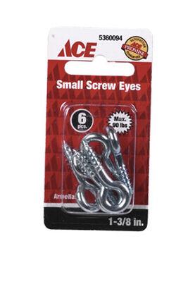 Ace 3/16 1-3/8 in. L Zinc-Plated Steel Screw Eye 6 pk