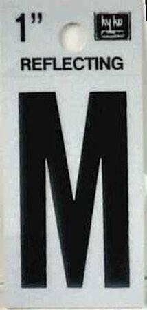 Hy-Ko Self-Adhesive Black Reflective Vinyl Letter M 1 in.