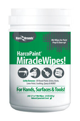 HarcoPaint Miracle Wipes Cleaning Wipes 12 in. W x 6 in. L 60 pk