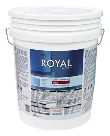 Ace Royal Flat Latex Paint & Primer Low VOC Ceiling White 5 gal.