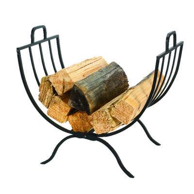 Panacea Matte Steel Log Rack Outdoor
