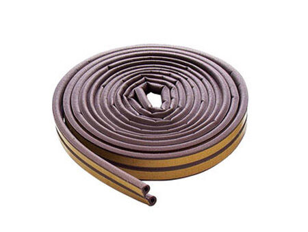 M-D Building Products Extreme Temperature Rubber Weather Stripping 17 ft. L x 5/16 in. Brown
