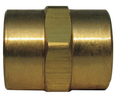 Ace 3/8 in. Dia. x 3/8 in. Dia. FPT To FPT Yellow Brass Coupling