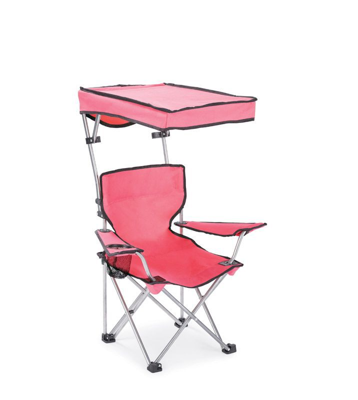 Pleasant Quik Shade Adjustable Pink Canopy Folding Kids Chair Machost Co Dining Chair Design Ideas Machostcouk