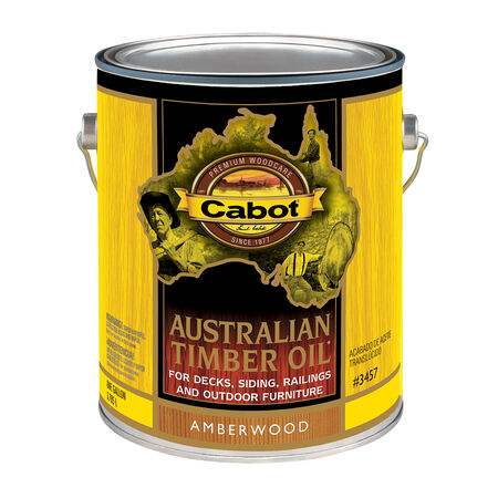 Cabot Transparent Amberwood Oil-Based Penetrating Oil Australian Timber Oil 1 gal.