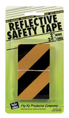 "Hy-Ko Safety Tape 2"" X 24"" Black Yellow"