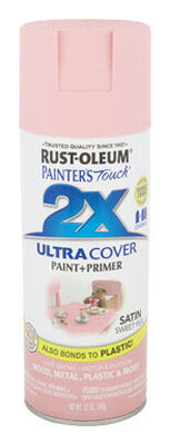 Rust-Oleum Painter's Touch Ultra Cover Sweet Pea Satin 2x Paint+Primer Enamel Spray 12 oz.