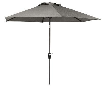 Living Accents Brookstone 9 ft. Dia. Tiltable Patio Umbrella Gray