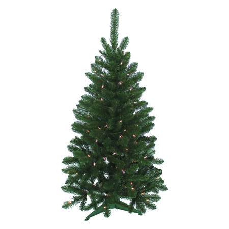 J & J Seasonal 4 ft. Multicolored Prelit Vienna Artificial Tree 100 lights