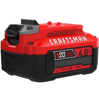 Craftsman 20V MAX 4 Ah Lithium-Ion High Capacity Battery Pack 1 pc.