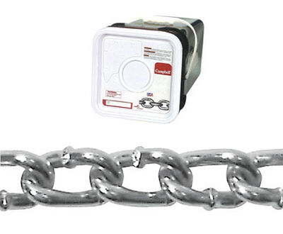 Campbell Chain Twist link Machine Chain 175 ft. L x 3/16 in. Dia. No. 2/0 Silver Carbon Steel