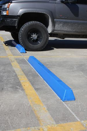 Parking Lot Bumper Blue Plastic 6'