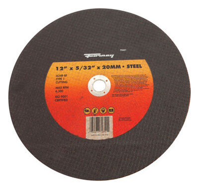Forney 12 in. Dia. x 5/32 in. thick x 20 mm Metal Cutting Wheel