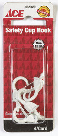 Ace 5/32 1.375 in. L Cup Hook 1 pk