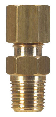 Ace 1/2 in. Dia. x 1/2 in. Dia. Brass Compression Connector