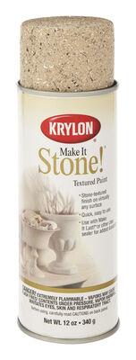 Krylon Make It Stone! Travertine Tan Coarse Stone Textured Finish Spray 12 oz.