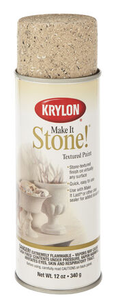 Krylon Make It Stone! Travertine Tan Coarse Stone Textured Finish Spray 12 oz.