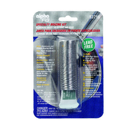 Alpha Fry 0.3 oz. Specialty Brazing Kit Aluminum and Silicon Brazing Aluminum and Silicon Solid B